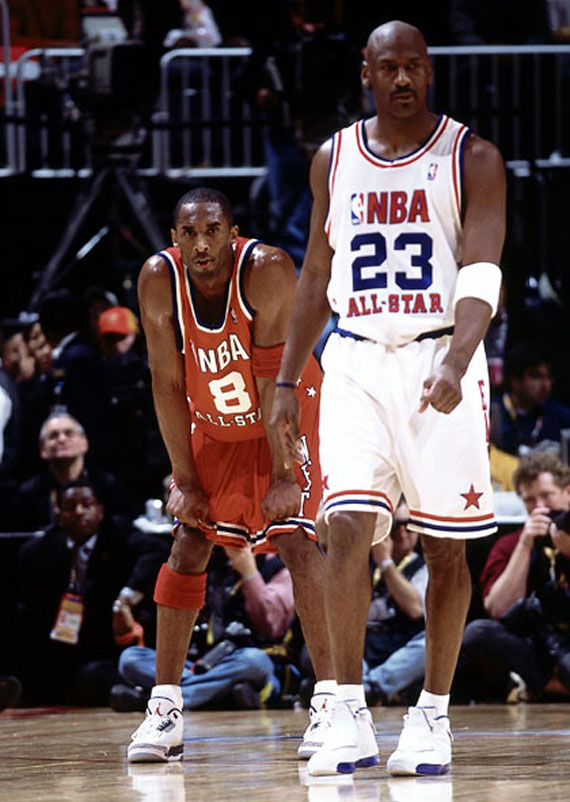 Kobe Bryant in Air Jordans & More - During Signature Shoe ...