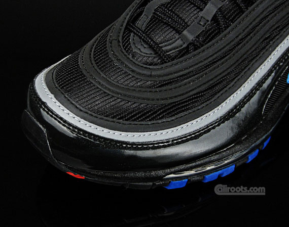 nike air max 97 black red blue
