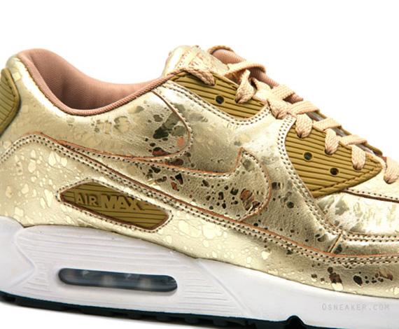 Nike Air Max 90 Gold Splatter Sneakernews Com