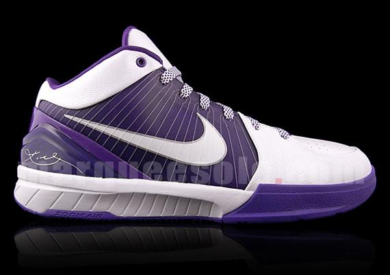 Nike Zoom Kobe IV - White - Purple