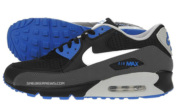 size 40 ce792 1f121 Nike Air Max 90 - Black - Grey - Techno Blue - JD Sports ...