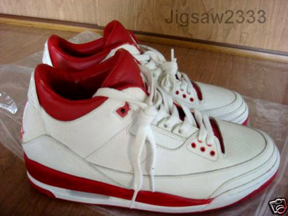 air jordan 3 white red