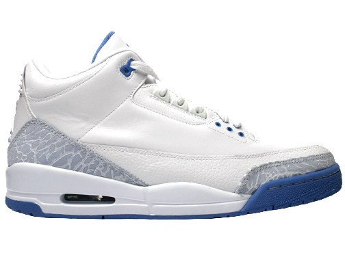 Air Jordan Iii Wmns 2007 Retro White Harbor Blue