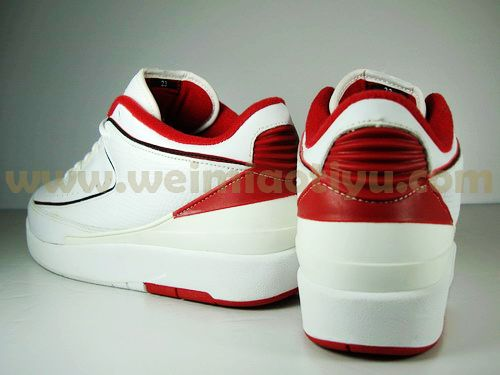 jordan 2 low white red