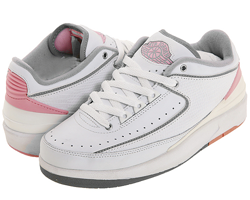 quality design e7222 4025f Air Jordan II Low WMNS 2004 Retro - White - Steel Grey - Pink ...
