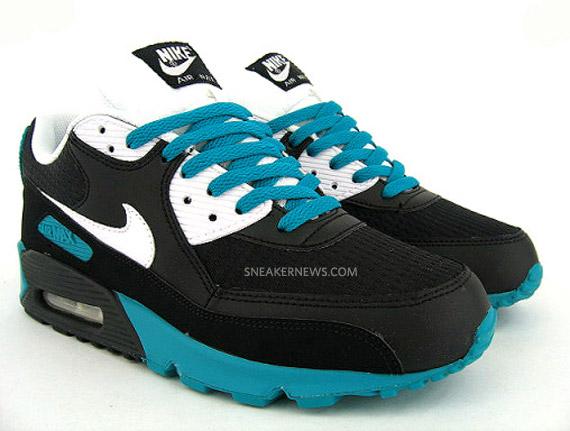 best service 8032a 58cb4 Nike Air Max 90 - Black - White - Radiant Emerald - SneakerNews.com