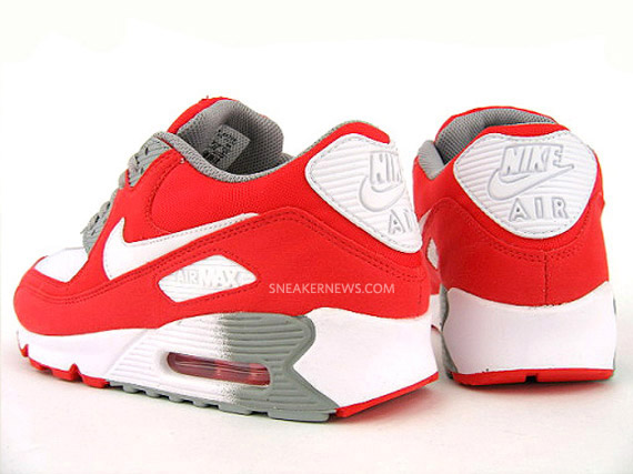 df4a72f99a Nike WMNS Air Max 90 - Challenge Red - White - Medium Grey ...