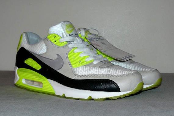 meet defed cd7f1 durable modeling Nike Air Max 90 Premium Neon Ostrich Sample