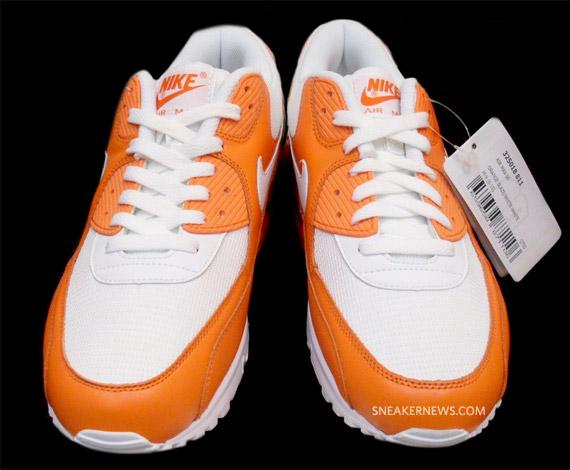 Nike Air Max 90 Flamme Orange Couleur Blanche