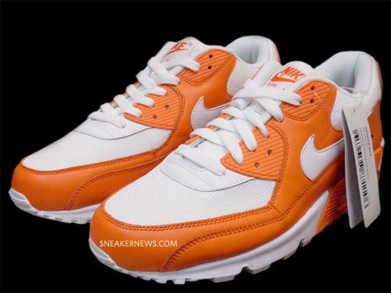 air max 90 orange and white