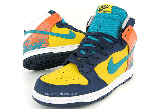 sports shoes b6097 eecc4 Nike Dunk High Premium - Navy - Varsity Maize - Radiant Emerald - Tennis  Pack - SneakerNews.com