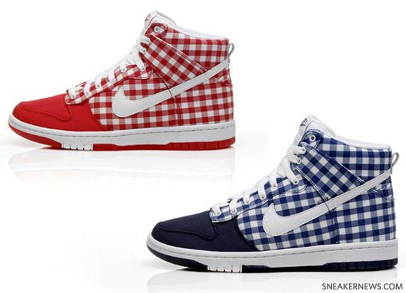 on sale ac435 eb361 Nike WMNS Dunk High Skinny - Plaid Tablecloth - SneakerNews.com