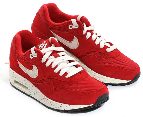 nike fall 2009 air max 1 speckled red kopen