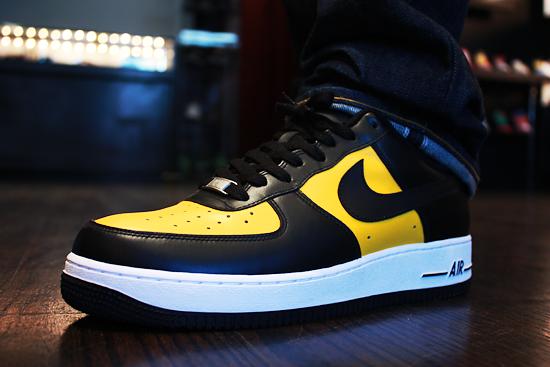 nike air force 1 black yellow