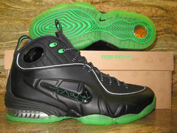 Nike Air Penny 1 2 Half Cent Black Green Spark