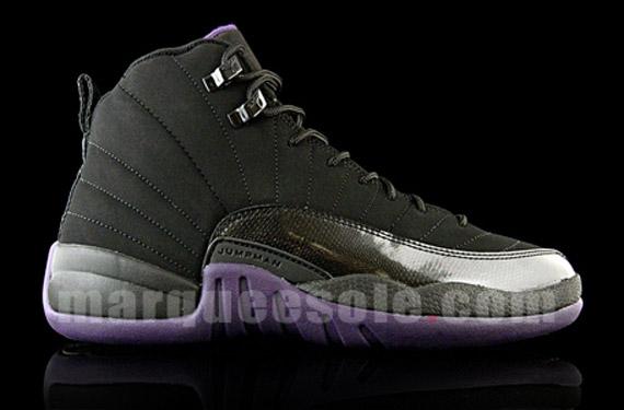 air jordan retro 12 purple black