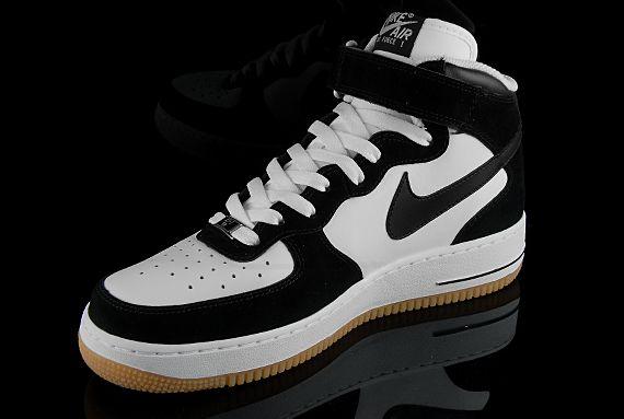 Nike Air Force 1 Gomme Milieu Noir Et Blanc Etnies meilleur achat EtDJq