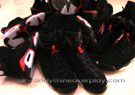 Air Jordan VI (6) – Black – Varsity Red – New Photos
