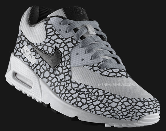 Nike Air Max 90 ID Hufquake Cracked Leather Shoes