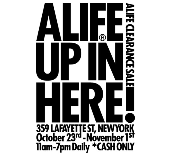 ALIFE Cash Only Warehouse Clearance Sale
