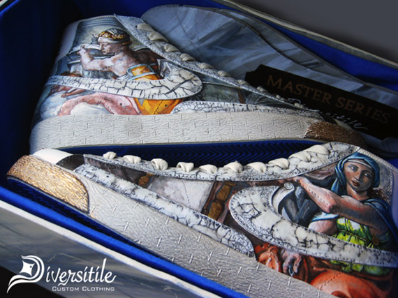 1559aa4e20702f Nike Blazer High Sistine Chapel Customs by Diversitile chic ...