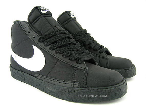Nike Blazer High - Black - White - Nylon - SneakerNews.com