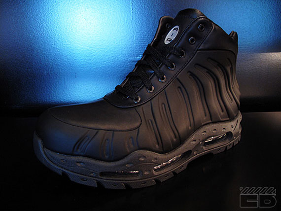 newest 96f95 7c852 Nike Foamposite Boot – Black – Available