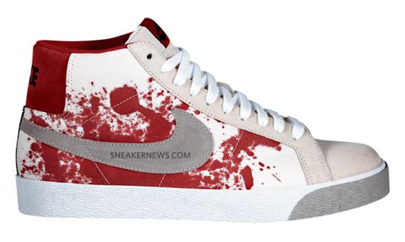Nike Sb Blazer High Blood Splatter October 2009