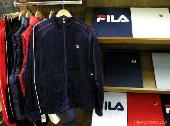 fila velour suit