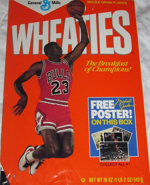 09998002b4cd Michael Jordan x Nike x Wheaties - Vintage Collectible Posters ...