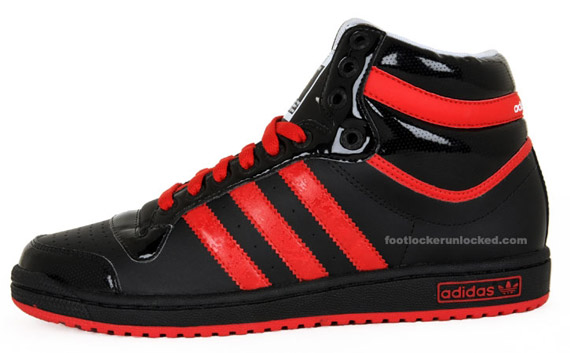 adidas top ten black red