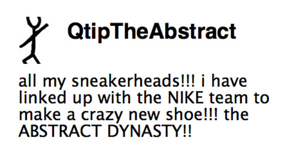 Q Tip x Nike Abstract Dynastyquot
