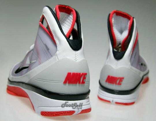 Nike Hyperize – White – Black – Hot Red