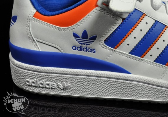 on sale 528b0 5962c While LeBron continues to tease the Knicks, adidas still has an exclusive  contract for NBA gear. This new Forum Lo RS isnt adorned with a logo, ...