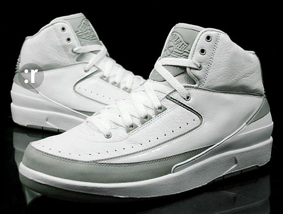 Air Jordan II - White - Metallic Silver - Neutral Grey - Available ... 98b16b2f8