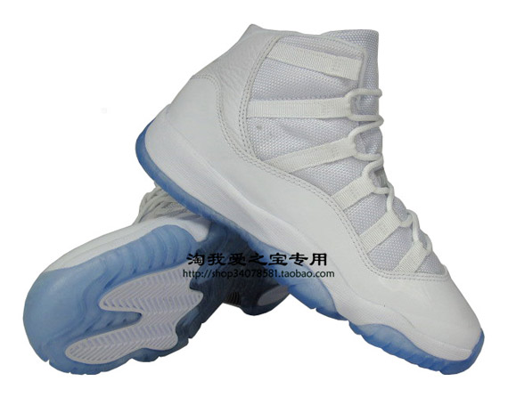 Air Jordan 11 Hielo Azul Blanco S62u4OV