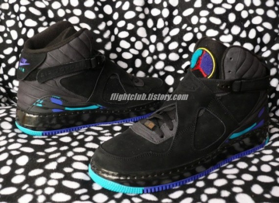 detailed look ddaec b70f6 Air Jordan Force VIII (8) Fusion – Black – Varsity Purple – Aqua Tone –  Preview