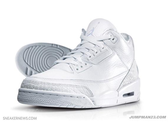 air jordan 3 all white