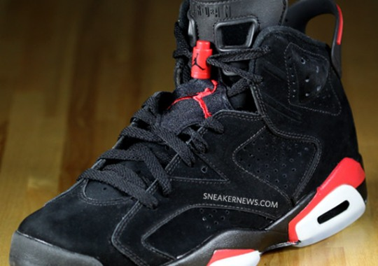 Air Jordan VI (6) Black/Varsity Red – Detailed Images + Wallpaper