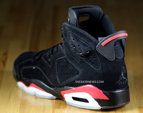 air jordan vi 6 blackvarsity red detailed images