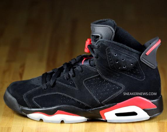 hot sale online 10c04 655ea Air Jordan VI (6) Black/Varsity Red - Detailed Images + ...