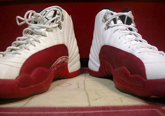 separation shoes 224f8 8d410 Air Jordan XII (12) - White - Varsity Red - 2009 Retro + 1996 OG ...