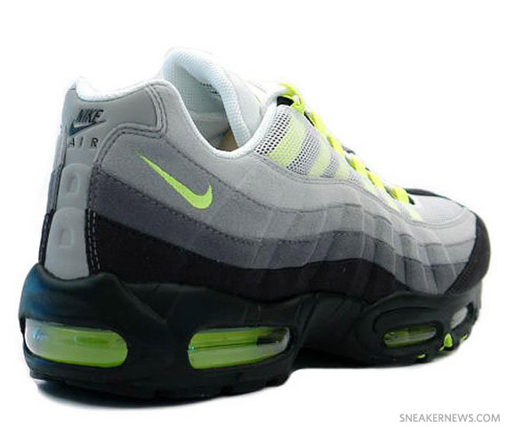 air max 95 grey and lime green