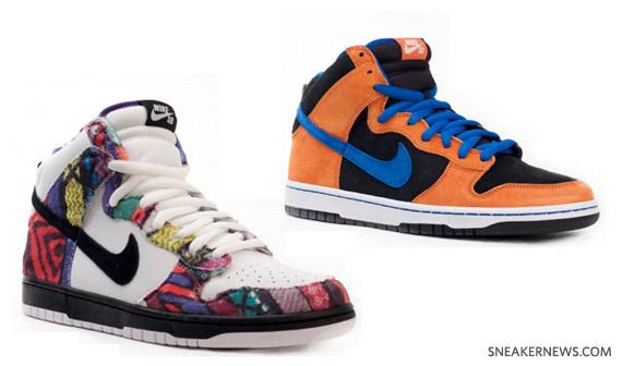 a1d82d55ba3 hot sale Nike SB Dunk Highs + Janoski 2010 Preview - ekurs ...