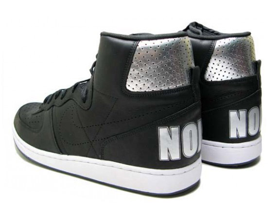 679cb098320bb3 Nike Terminator High  NOISE  - Black - Metallic Silver - Detailed Images -  SneakerNews.com