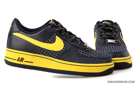 black yellow nike air force 1
