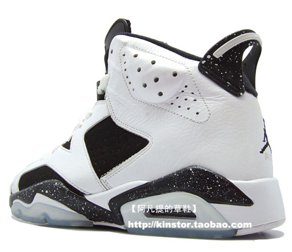 Air Jordan VI (6) Retro – 'Oreo' – Detailed Images
