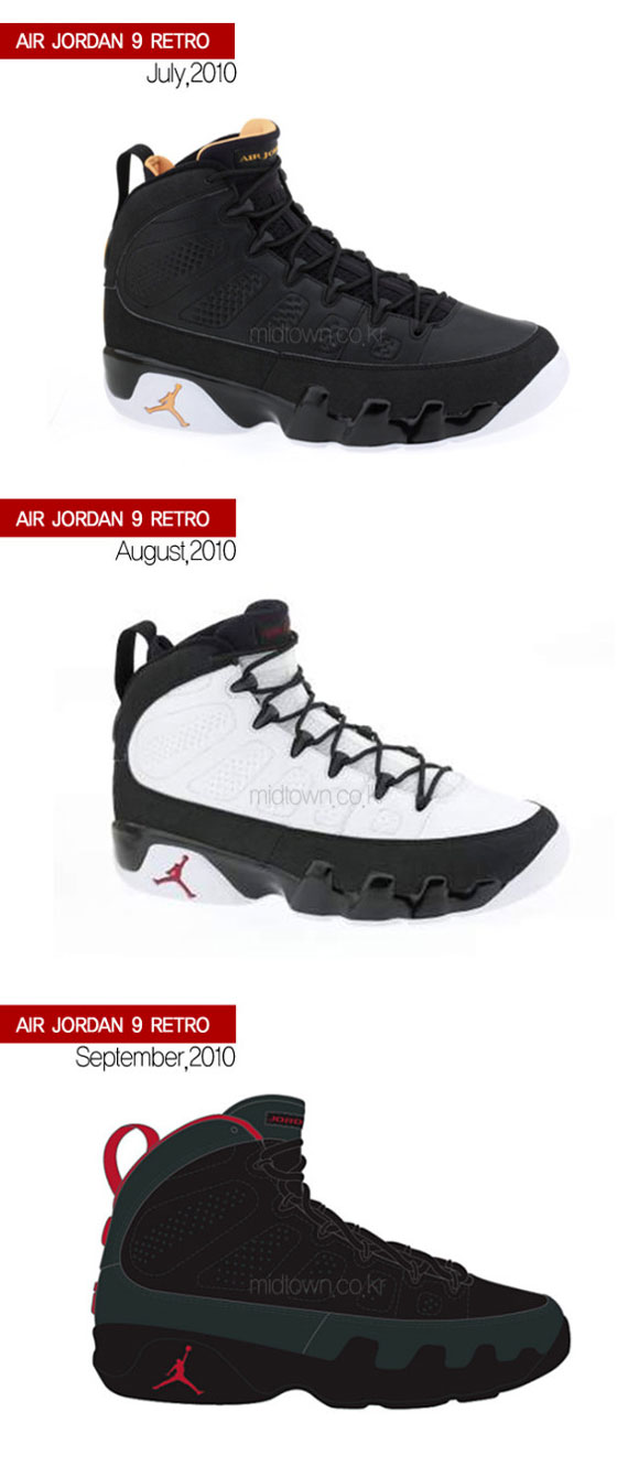 air jordan 9 og colorways
