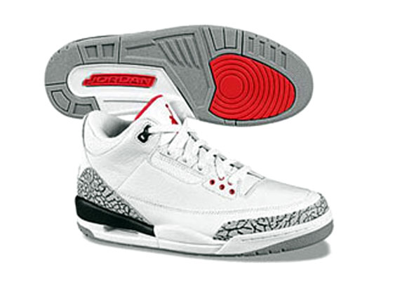 quality design 6bb1f ca08e Air Jordan III (3) Retro – White – Cement Grey – 2010 Release Confirmed