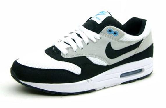 nike air max 1 blue black&white
